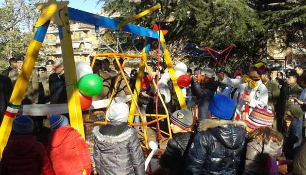 Disabilità, a Viterbo c'è un parco giochi integrato dove tutti i bambini possono giocare e sorridere insieme
